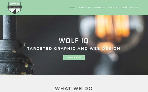 Screenshot of Home Page wolfiq.com.au - Home - Wolf IQ - Graphic and Web Design Sydney - captured Sept. 30, 2014