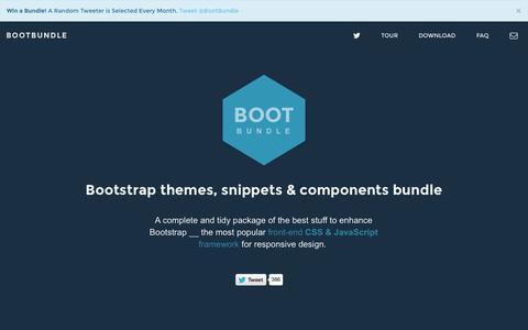 Screenshot of Home Page bootbundle.com captured Jan. 26, 2015