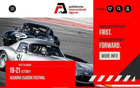 Screenshot of Home Page autodromodoalgarve.com - Autodromo do Algarve - Official Site - Tickets - captured Sept. 25, 2018