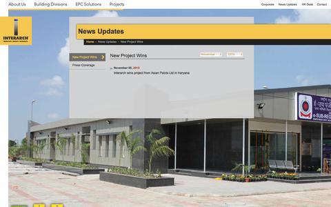 Screenshot of Press Page interarchbuildings.com - News Updates | 2015 | November | Interarch - captured Feb. 11, 2016
