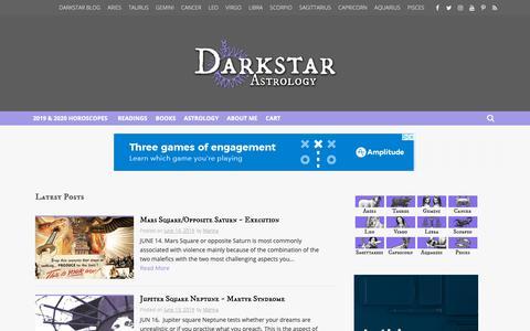 Screenshot of Blog darkstarastrology.com - Blog - Darkstar Astrology - captured June 14, 2019