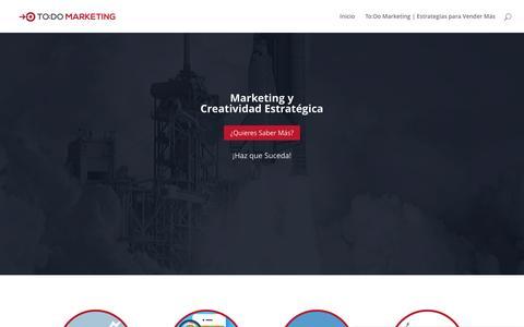Screenshot of Home Page todomarketing.com.mx - Todo Marketing     Estrategias para Vender Más – La Creatividad Puede ser Interesante, pero la Creatividad Estratégica Vende - captured Jan. 22, 2017