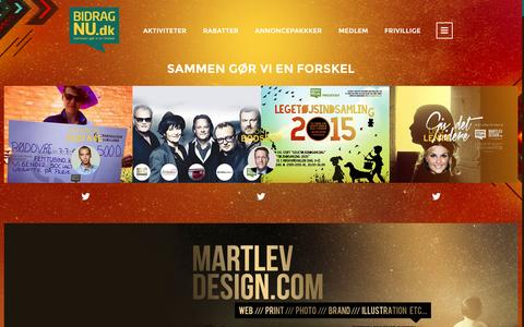 Screenshot of Home Page bidragnu.dk - BidragNu - captured Sept. 7, 2015
