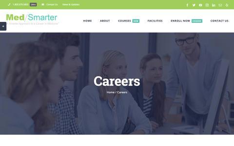 Screenshot of Jobs Page medsmarter.com - Careers - MedSmarter - captured Oct. 27, 2018