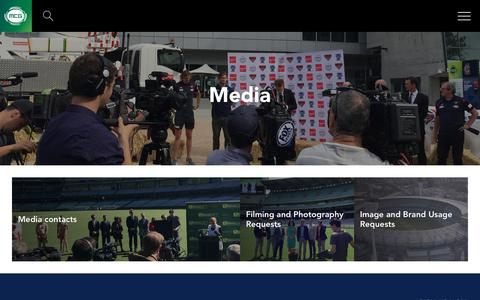 Screenshot of Press Page mcg.org.au - Media contacts and information - captured Oct. 19, 2018