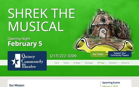 Screenshot of About Page 1qct.org - About Us | Quincy Community Theatre - captured Feb. 2, 2016