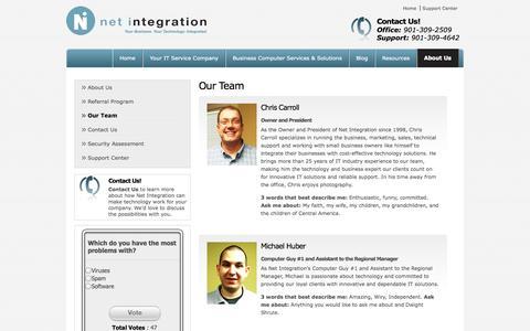 Screenshot of Team Page net-i.com - Our Team - Memphis, Germantown | Net Integration - captured Oct. 7, 2014