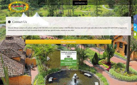 Screenshot of Contact Page veresort.com - Contact Us - captured Nov. 5, 2014