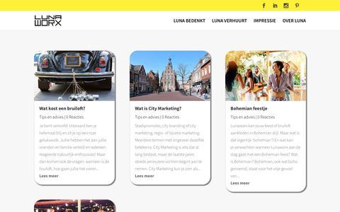 Screenshot of Blog lunaworx.nl - Inspiratie, informatie, herinneringen en meer van Lunaworx - captured March 3, 2017