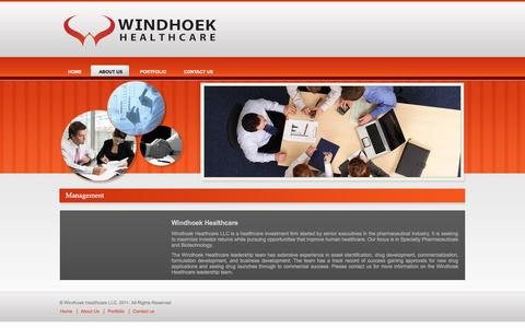 Screenshot of About Page windhoekhealthcare.com - Managment - captured Oct. 2, 2014