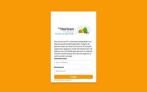 Screenshot of Login Page rkhorizon.nl - Inloggen - captured Nov. 17, 2018