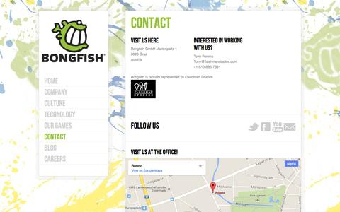 Screenshot of Contact Page bongfish.com - Welcome to Bongfish   –  Contact - captured Oct. 5, 2014