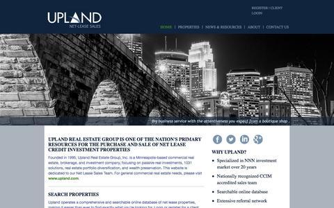 Screenshot of Home Page nnnsales.com - Net Lease Properties, NNN Properties, triple-net lease properties - captured Feb. 13, 2016
