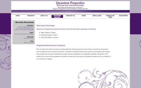 Screenshot of Support Page quantumproperties.ca - Quantum Properties - captured Oct. 3, 2014