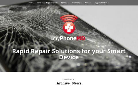 Screenshot of Press Page myphonemd.net - News | myPhoneMD - captured Oct. 28, 2014