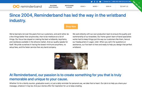 Screenshot of About Page reminderband.com - About Us | Reminderband - captured Oct. 31, 2019