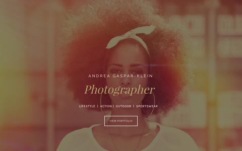 Screenshot of Home Page ancrix.com - ANDREA GASPAR KLEIN // Active Outdoor Fashion and Lifestyle Photographer - captured April 3, 2017