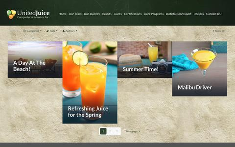 Screenshot of Home Page unitedjuice.com - United Juice of America - Fresh Squeezed Orange Juice Supplier | Fresh Orange Juice Companies - captured Sept. 25, 2018