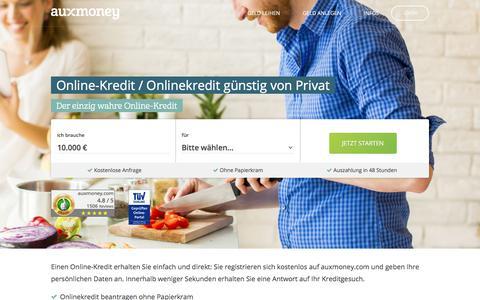 Online-Kredit »» Günstiger Kredit online »» AUXMONEY