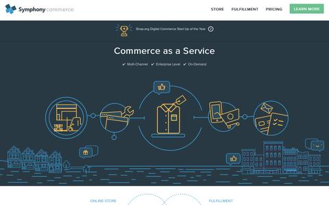 Screenshot of Home Page symphonycommerce.com - Symphony Commerce | Commerce as a Service - captured June 16, 2015