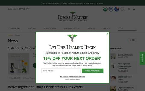 Screenshot of Press Page forcesofnaturemedicine.com - News – Forces of Nature Medicine - captured Sept. 23, 2018