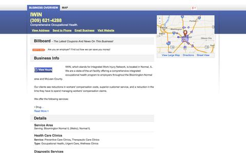 Screenshot of Home Page cashiwin.com - IWIN       Normal, IL    61761   DexKnows.com™ - captured Oct. 8, 2014