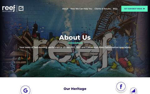 Screenshot of About Page reefdigital.com.au - About Us | Meet The Friendly Team At Reef - captured June 19, 2019