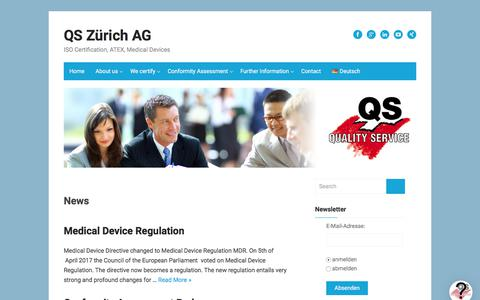 Screenshot of About Page quality-service.ch - News – QS Zürich AG - captured Aug. 17, 2017
