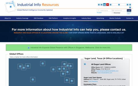 Screenshot of Contact Page industrialinfo.com - Contact Us | Industrial Info Resources - captured July 16, 2018