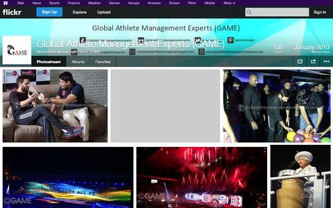 Screenshot of Flickr Page flickr.com - Flickr: Global Athlete Management Experts (GAME)'s Photostream - captured Oct. 23, 2014