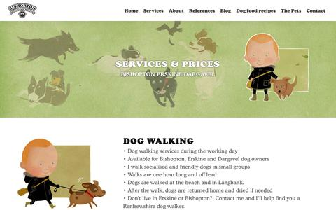 Screenshot of Services Page bdws.co.uk - Pet services & Prices for Dargavel, Bishopton & Erskine - captured Dec. 18, 2018