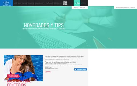 Screenshot of Blog fh.com.co - Blog de Industrias FH - captured Oct. 10, 2016