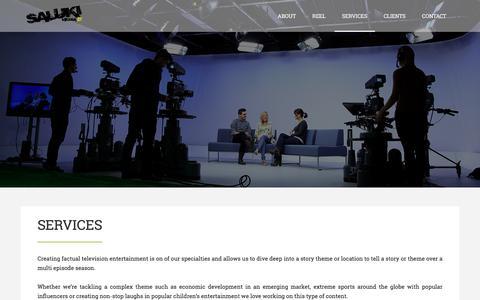 Screenshot of Services Page salukimedia.com - Services | Saluki Media - captured July 27, 2018