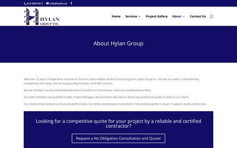Screenshot of About Page hylan.ca - About Hylan Group | - captured Sept. 30, 2018