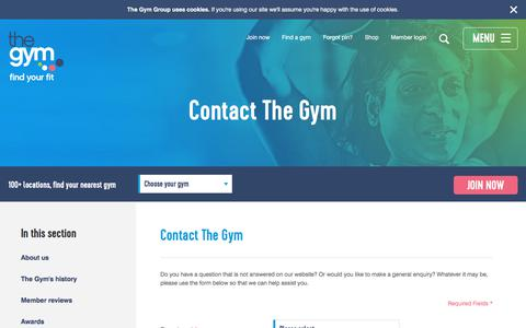Contact Form | Contact The Gym | The Gym Group