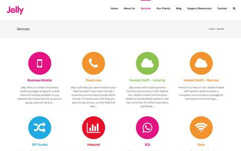 Screenshot of Services Page jellycoms.co.uk - Services - Jelly Communications - captured Nov. 26, 2016