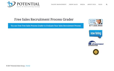 Free Sales Recruiting Process Grader – Potential Sales and Consulting Group