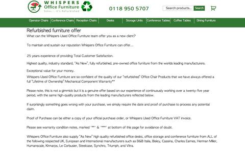 Screenshot of About Page whispers.co.uk - Whispers as New Used Office Furniture Based In Reading and London - captured Sept. 20, 2018