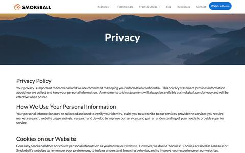 Privacy | Smokeball Legal Case Management Software