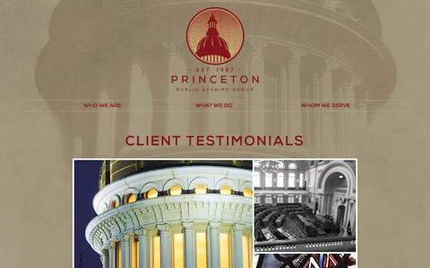 Screenshot of Testimonials Page ppag.com - Client Testimonials - Princeton Public Affairs Group - captured Nov. 12, 2016