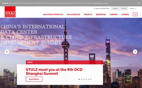Screenshot of Home Page stulz.cn - CLIMATE. CUSTOMIZED. | STULZ - captured Nov. 27, 2018