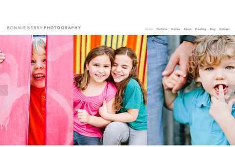 Screenshot of Home Page bonnie-berry.com - Bonnie Berry Photography - captured March 16, 2016