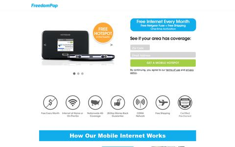 Cheap Internet Service Provider: $0/mo. Home Internet & Internet On-The-Go - FreedomPop™