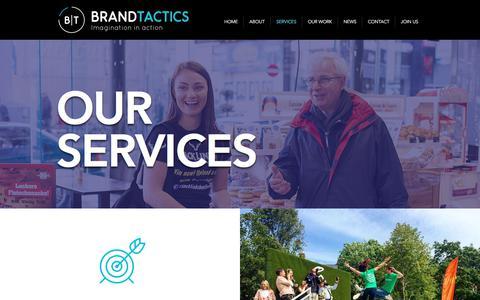 Screenshot of Services Page brandtactics.ie - Services | Dublin | Brandtactics Ireland - captured Aug. 3, 2018