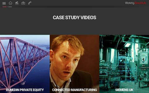 Screenshot of Case Studies Page working-beautifully.co.uk - Case Studies | Video Production | Working Beautifully - captured Oct. 20, 2018