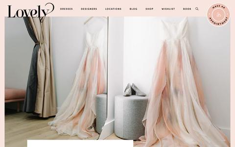 Screenshot of About Page lovelybride.com - Above Lovely Bridal Shops - captured Oct. 30, 2019