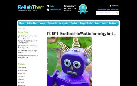 Screenshot of Press Page refurbthat.com - Refurb That   RefurbThat - captured Oct. 10, 2014