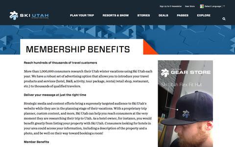 Screenshot of Signup Page skiutah.com - Join Ski Utah | Ski Utah Membership        -       Ski Utah - captured June 14, 2017