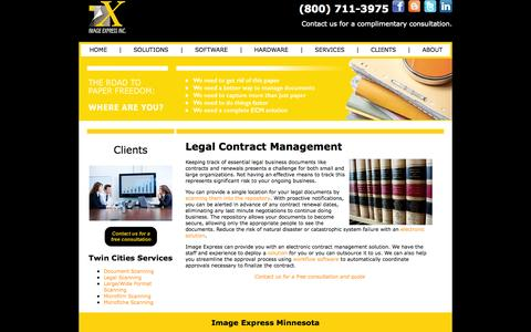 Screenshot of Terms Page imageexpressinc.com - Legal Contract Management Solutions | Image Express - captured Sept. 30, 2014