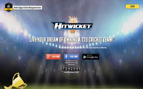 Screenshot of Signup Page hitwicket.com - Hitwicket - Free Online Cricket Management Game - captured Oct. 20, 2015